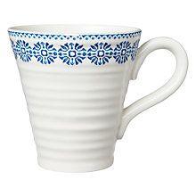 Buy Sophie Conran for Portmeirion Florence Pattern Mug, White/Blue Online at johnlewis.com