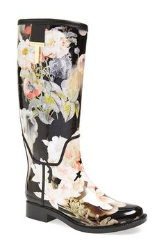 Free shipping and returns on Ted Baker London 'Karriner' Rain Boot (Women) at Nordstrom.com. Lush flowers bloom across a decidedly feminine rain boot branded with a signature goldtone logo ornament.