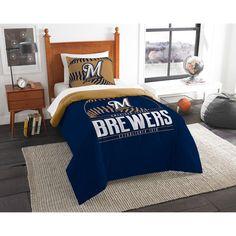 Milwaukee Brewers The Northwest Company Grand Slam Twin Comforter Set