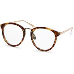 Brown Tortoise Frame Round Clear Lens Glasses ($7.99) ❤ liked on Polyvore featuring accessories, eyewear, brown, round tortoiseshell glasses, round lens glasses, rounded glasses, clear eyewear and clear round glasses