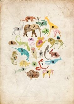 alphabet poster by helene