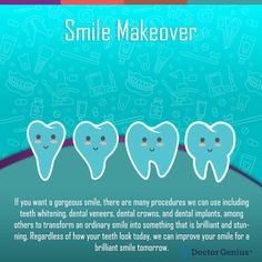 Get a healthy, dream smile with a complete smile makeover. Learn about the full range of cosmetic dental procedures and how they can enhance your smile Cosmetic Dentistry Procedures, Implant Dentistry, Dental Procedures, Dental Implants, Oral Health, Health Care, Dental Veneers, Dental Cosmetics, Smile Makeover