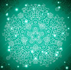 Buy Retro Antique Ornament Background by KannaA on GraphicRiver. Retro antique ornament background with lights. Vector illustration for your majestic fashion design. Turquoise Background, Retro Background, Verde Tiffany, Holiday Wallpaper, Oriental Pattern, Pretty Green, Green Backgrounds, Mandala, Web Design