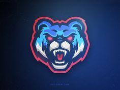 Grizzly by Khisnen Pauvaday Team Logo, Fantasy Football Logos, Planet Logo, Game Logo Design, Esports Logo, E Sport, Animal Logo, Logo Images, Cool Logo