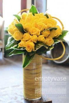 60 best yellow flower arrangement ideas images on pinterest in 2018 yellow rose tower vase arrangementsyellow flower arrangementsflower centerpiecesflower mightylinksfo