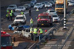 Porsche 911 crashed in Israel