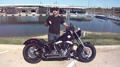 2013 Harley Davidson FLS Softail Slim Vance and Hines Short Shots
