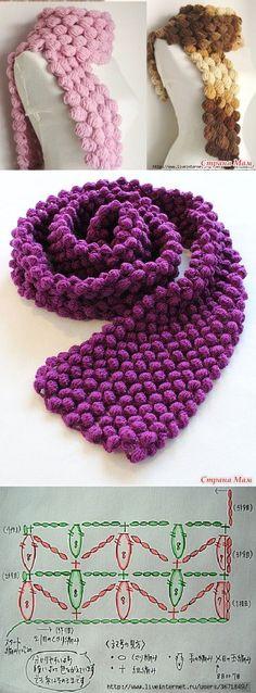 Crochet scarf ❥Teresa Restegui http://www.pinterest.com/teretegui/❥
