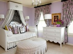 Little girls room.  Patterned curtains.  :)  traditional  by Tobi Fairley Interior Design