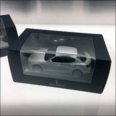 Maserati Automotive Custom Slatwall accommodates more than Waterfall Faceouts. Clear Acrylic Shelves and Ledges display scale models of a range of variants. Slat Wall, Maserati, Clear Acrylic, Trays, Miniatures, Display, Models, Patterns, Floor Space