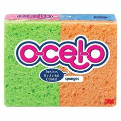 O-Cel-O™ 4 Pk. Sponge. Great for Cleaning, Science and Art Projects!