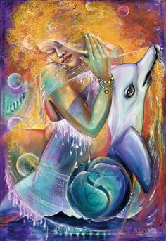 Dolphin Painting - Cycles Of Life by Blaze Warrender Orcas, Dolphin Painting, Dolphin Photos, A Kind Of Magic, Esoteric Art, Cycle Of Life, Mandala, Zen Art, Book Images