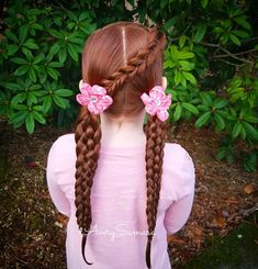 Pull through braid. Six strand braids. Easy hairstyles. Braid combos. Braids for kids.