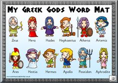 Free Printable Greek Gods WordMat