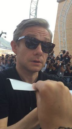 He looks about ready to slap the person holding that paper. Sherlock Bbc, Sherlock Quotes, Jim Moriarty, Martin Freeman, John Watson, Johnlock, Benedict Cumberbatch, Benedict And Martin, Hunks Men