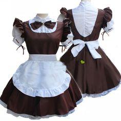 Women Ladies Fashion Short Sleeve Doll Collar Retro Maid Dress Cute French Maid Outfit Cosplay Costume Plus Size Maid Outfit Cosplay, Maid Outfit Anime, Anime Maid, Cosplay Girls, Dress Outfits, Girl Outfits, Cute Outfits, French Maid Costume, French Maid Dress