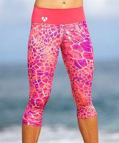 Love this Pink Desert Hannah Yoga Capri Leggings on #zulily! Shop @ FitnessApparelExpress.com