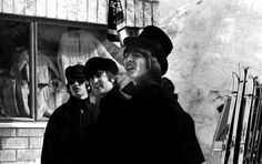 Ringo Starr, John Lennon and George Harrison filming 'Help!' in Obertauern, Austria, in 1965.