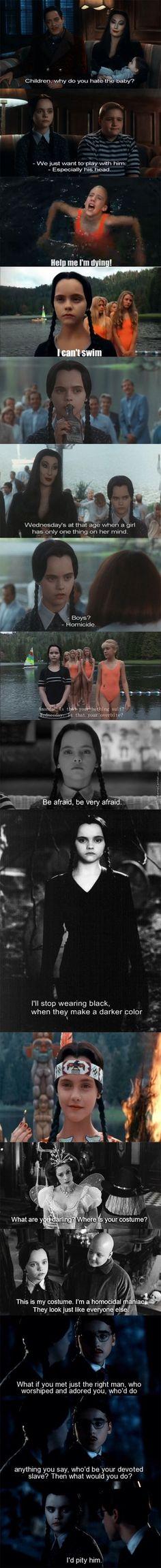 I freaking love Wednesday Addams omg