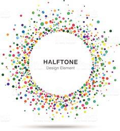 カラフルな抽象的なハーフトーンデザイン要素のロゴ ロイヤリティフリーのイラスト素材