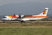ATR 72-600 de Air Nostrum. Bajo la librea de Iberia