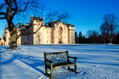 Snow at Fyvie Castle