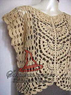 Blusa crochet con patron 1-4