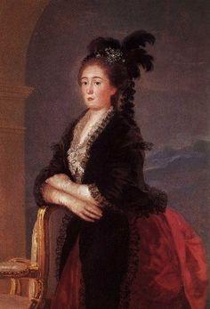 FRANCISCO DE GOYA RETRATO DE DOÑA MARIA TERESA DE VILLABRIGA ESPOSA DEL INFANTE DON LUIS DE BORBON 1783