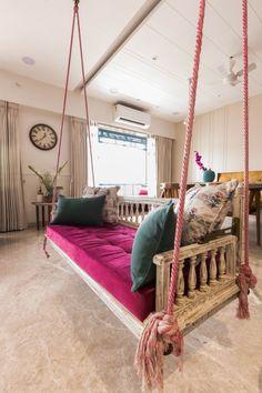 Apartment Interior, Apartment Design, Living Room Designs India, Room Swing, Indian Interiors, Traditional Interior, Images Gif, Furniture Design, Interior Design