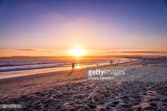 #Coronado Beach - San Diego, #California | #travel #stock #photography #GettyImages #sunset |