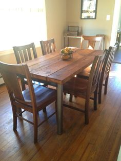 "Reclaimed Wood Dining Table - ""South Street"" by Reclaimed PA #diningtable #reclaimedwood"
