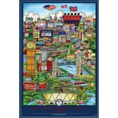 Price: $6.80 - London 2012 Olympics The World Watches Team USA Sports Poster - TO ORDER, CLICK ON PHOTO