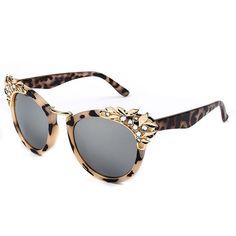 $5- Hot New Retro Vintage Women Rhinestone Leopard Frame Shades Sunglasses Glasses