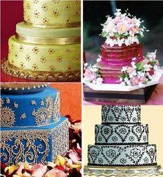 India inspired wedding cakes