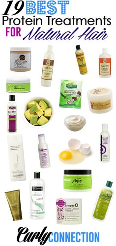 19 Best Protein Treatments for Natural Hair via CurlyConnection.com #transitiontonaturalhair