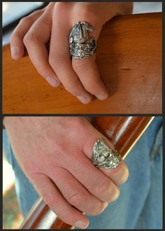 Celestial Dragon Fantasy Jewelry Ring in Sterling Silver