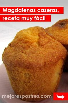 Magdalenas caseras, receta muy fácil Cap Cake, Spanish Food, Sin Gluten, Kitchen Recipes, Tapas, Cupcake Cakes, Muffins, Food And Drink, Sweets