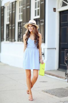 Chambray Dress + A Must-Read Book! Southern Curls & Pearls waysify