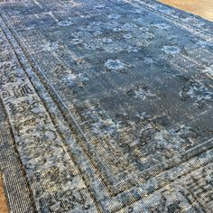 Blue color overdyed vintage rugs 👍