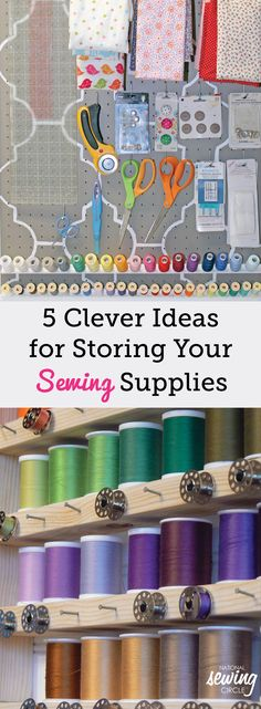 With these great ideas and many more available, we hope you are inspired to spruce up your space with fun organization ideas that enable you to spend more time sewing! What are your best tips for organizing your sewing space?