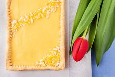 Polish Easter cake - mazurek (in Polish) Polish Easter, Plastic Cutting Board, Lemon, Food, Tart, Easter Activities, Bakken, Essen, Meals