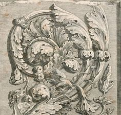 Antique Acanthus French Etching