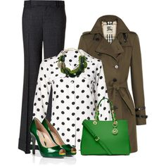 Sergio Rossi in green by torinmia on Polyvore featuring polyvore, fashion, style, Burberry, Rachel Zoe, Sergio Rossi, MICHAEL Michael Kors and Equipment