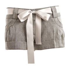 Womens Miso Linen Ribbon Detail Shorts (€23) ❤ liked on Polyvore featuring shorts, bottoms, pants, short, mini shorts, short shorts, micro shorts, hot shorts and linen shorts