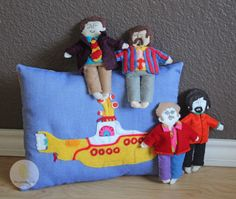 The Beatles Yellow Submarine plush dolls. Love this children's gift for my daughter's Fab Four birthday party! Their clothes are interchangeable.