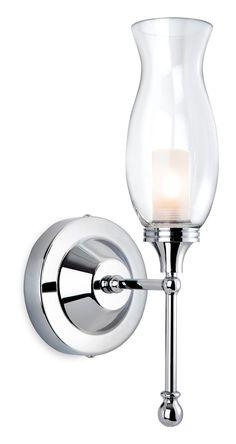 Chrome With Clear Glass IP44 33W G9 Bathroom Wall Light