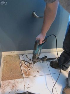 How to Remove Tile Flooring Yourself  with Tips and Tricks    Home     Guest Bathroom Renovation   Part 1  Tile Removal
