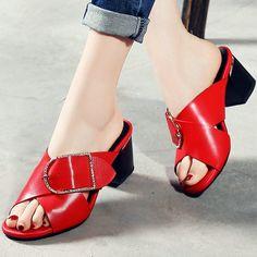 (42.60$)  Buy here  - AIWEIYi 2017 Women Sandals Summer Style Flip Flops Thick High Heel Sandals Fashion Slip On Slides Slippers Slingbacks Shoes