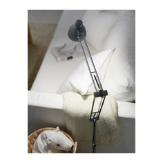ANTIFONI Floor/reading lamp, silver color $39.99	 The price reflects selected options Article Number:  501.287.89 Adjustable arm and head makes it easy to direct the light.