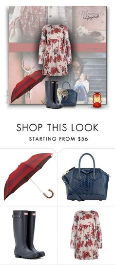 """""""Today... All those moments will be lost in time, like tears...in...rain (Blade Runner)"""" by carineazevedo ❤ liked on Polyvore featuring Barneys New York, Givenchy, Hunter and Topshop"""